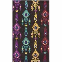 nuLOOM Handmade Ikat Multi Wool Rug - 7'6 x 9'6