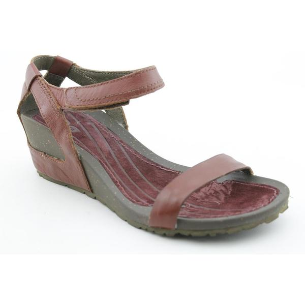 33f6a80397ae12 Shop Teva Women s  Cabrillo Strap Wedge  Leather Dress Shoes - Free  Shipping Today - Overstock.com - 7518889