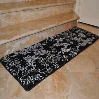 Fashion Street Floral Memory Foam 20 x 64 Bath Runner (4 options available)