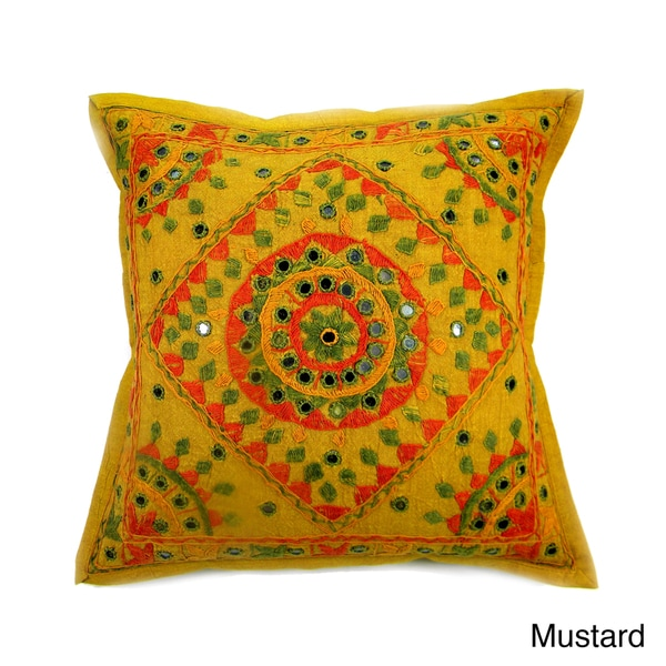 Hand stitched Diamond Multi Color Cushion Cover (India)