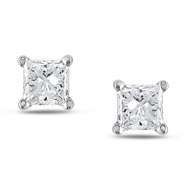 Miadora 14k White Gold 1ct TDW Diamond Stud Earrings (G-H, I1-I2)