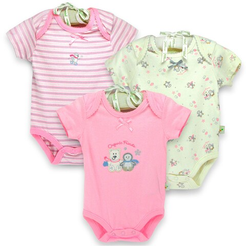 Organically Grown Infant 'Winter Friends' Organic Cotton Bodysuits (Set of 3)