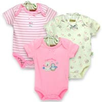 Organically Grown Infant 'Winter Friends' Organic Cotton Bodysuits (Set of 3)