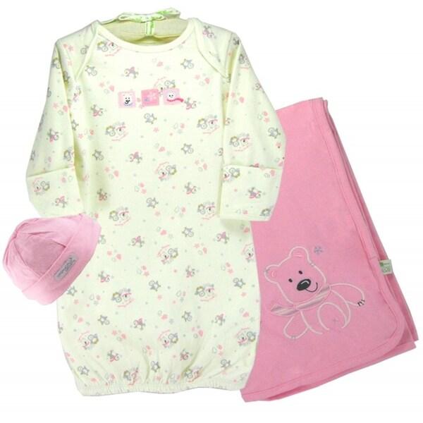 Infant 'Polar Bear & Snowflake' Cap/ Gown/ Blanket Set