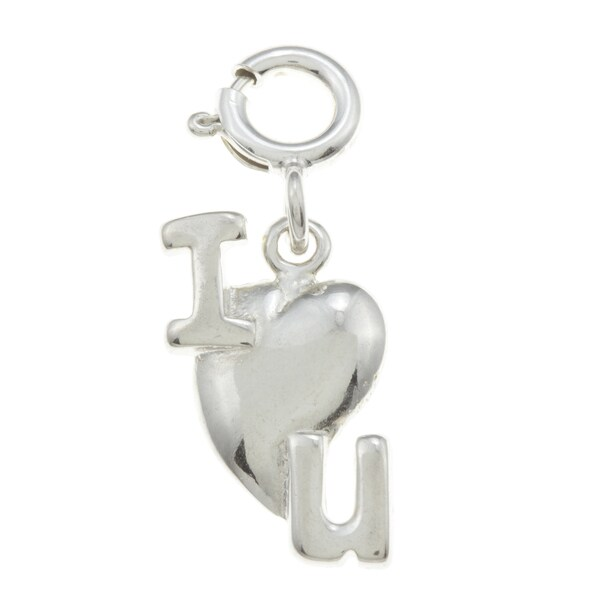 Sterling Silver 'I Love You' Charm. Opens flyout.