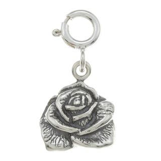 Sterling Silver Rose Charm|https://ak1.ostkcdn.com/images/products/7519019/P14957666.jpg?impolicy=medium