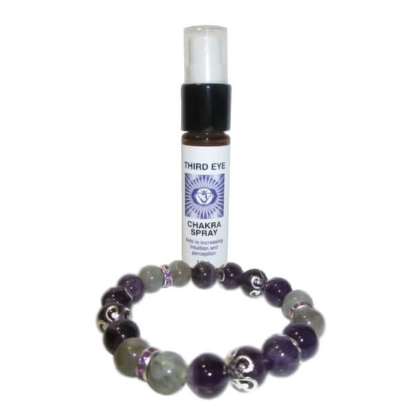 Third Eye Chakra Spray and Crystal Set