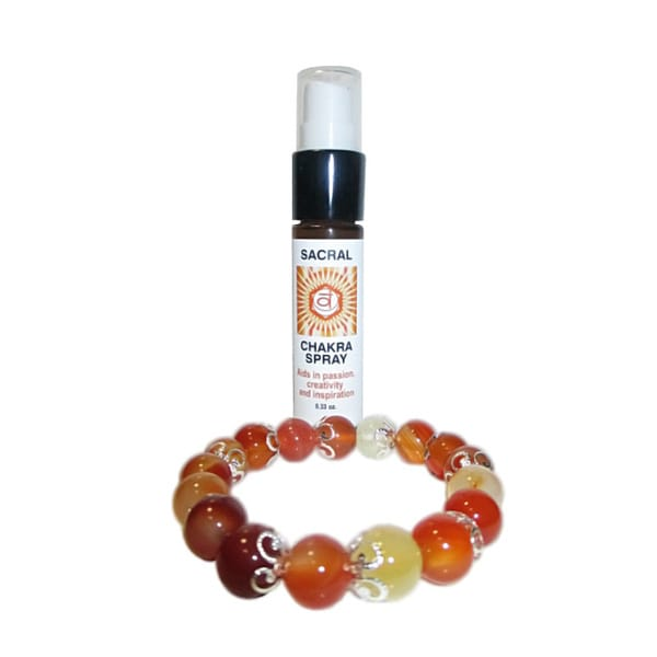 Sacral Chakra Spray and Crystal Set