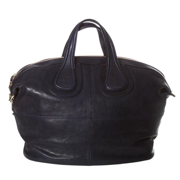 Givenchy 'Nightingale' Medium Navy Leather Satchel