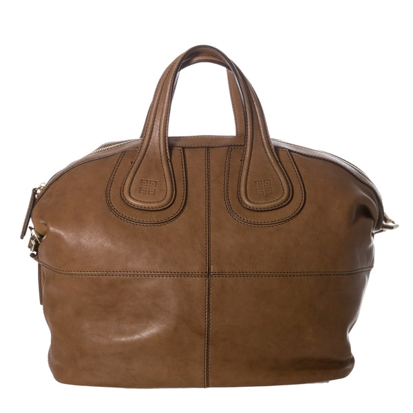 Givenchy 'Nightingale' Medium Tan Leather Satchel