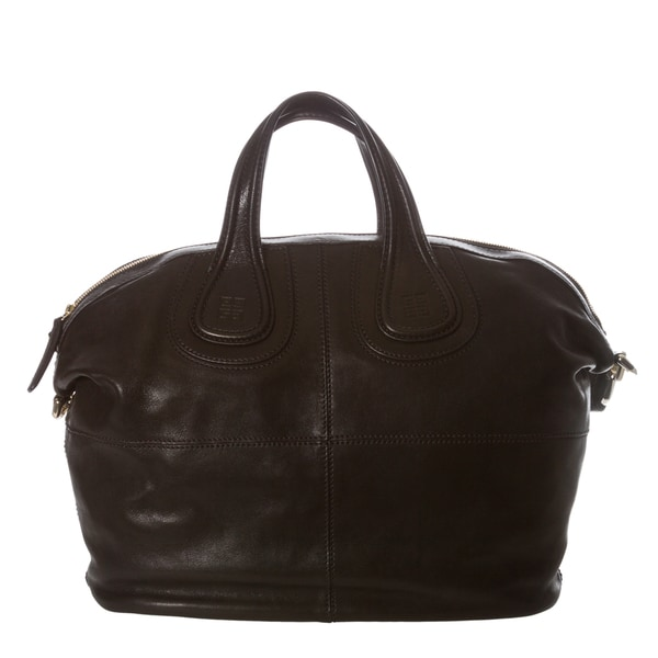 Givenchy 'Nightingale' Medium Black Leather Satchel