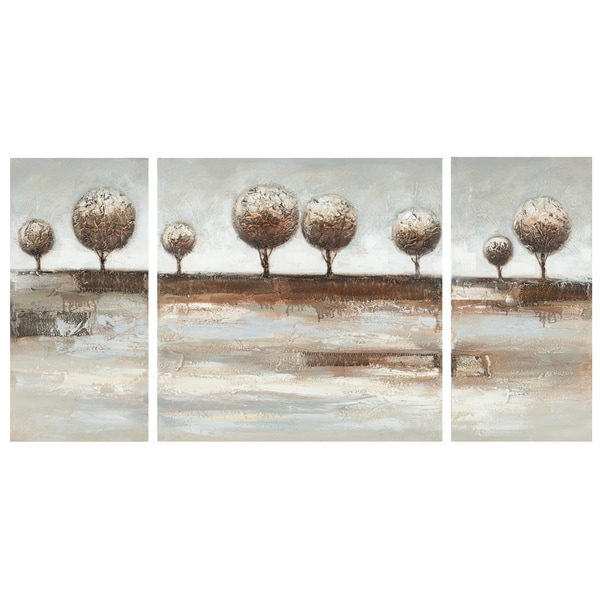 Safavieh Works of Art Topiary Landscape 3-piece Canvas Art