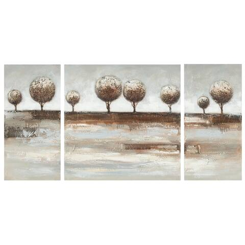 Safavieh Works of Art Topiary Landscape 3-piece Canvas Art