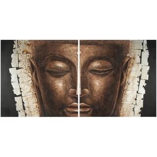 Safavieh Works of Art Buddha 2-piece Canvas Art