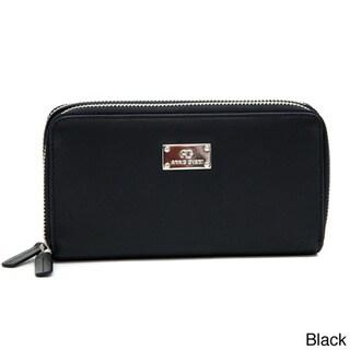 Anais Gvani Genuine Leather Zip-Around Wallet