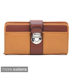 Dasein Women's Color-blocked Bi-fold Wallet