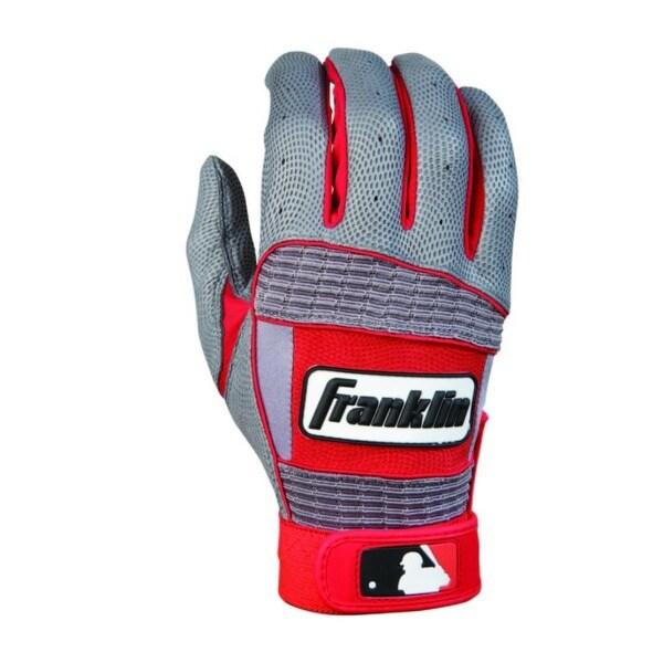 MLB Adult Grey/Red Neo Classic II Batting Glove