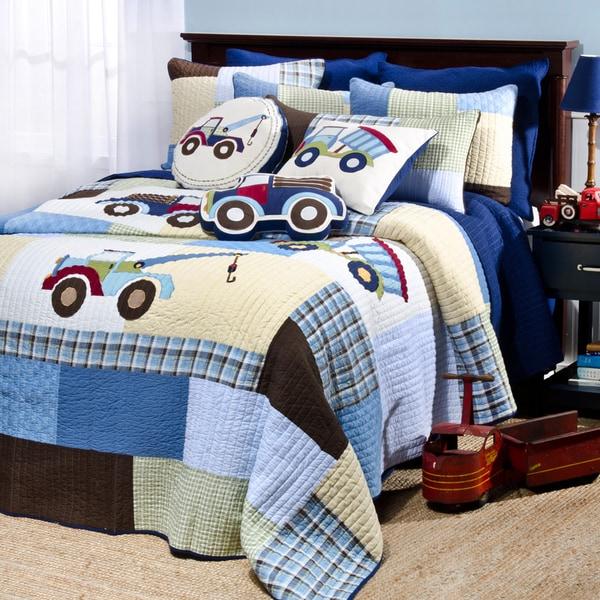 Trucks 4-piece Quilt Set