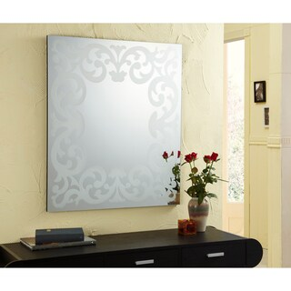 "Furniture of America Katerina Ghidotti Mirror - Silver - 32"" x 32"""