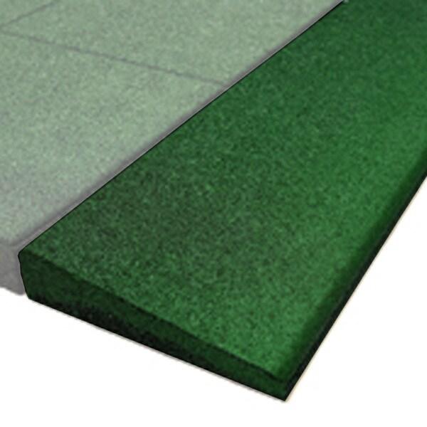 PlayFall Beveled Edge Border for Rubber Tiles - Green 1.75-inch (Set of 4)