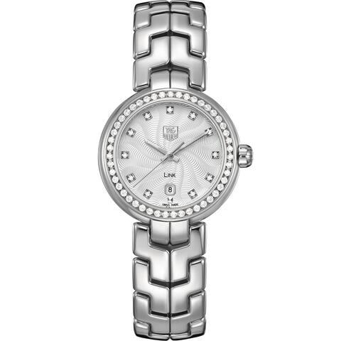 Tag Heuer Women's WAT1414.BA0954 'Link' Diamond Dial Stainless Steel Quartz Watch