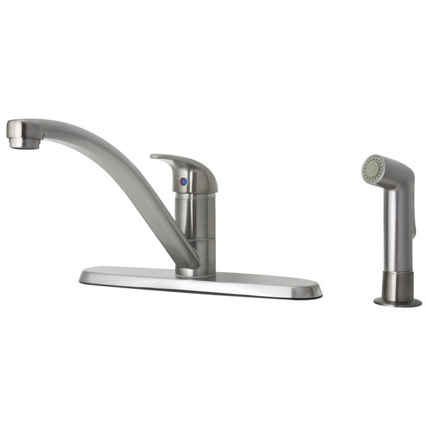 price pfister parisa single handle stainless steel kitchen faucet with