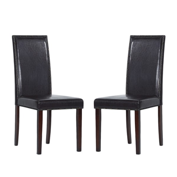 Warehouse of Tiffany Blazing Dark Brown Dining Chairs (Set of 8)