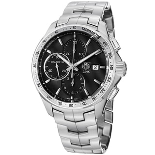 Link to Tag Heuer Men's CAT2010.BA0799 'Link' Black Dial Stainless Steel Automatic Watch Similar Items in Women's Watches