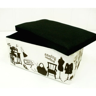 Suzy Black/ White Novelty Sewing and Storage Box