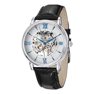 Stuhrling Original Men's Chamberlain Mechanical Leather Strap Watch