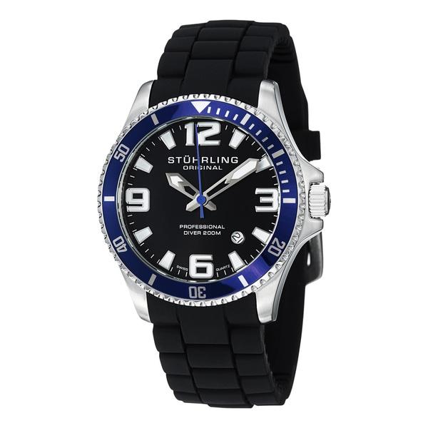 Stuhrling Original Men's Regatta Champion Sport Water-Resistant Rubber Strap Watch