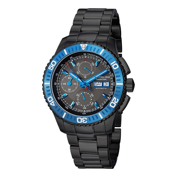 Stuhrling Prestige Men's Regatta Victoire Automatic Stainless Steel Bracelet Watch