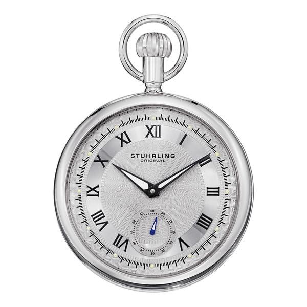 Stuhrling Original Men's Montres de Poche Colmar Mechanical Pocket Watch