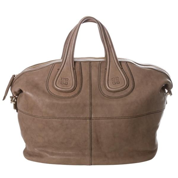 Givenchy 'Nightingale' Medium Taupe Leather Satchel