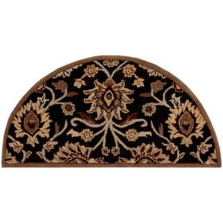 Hand-tufted Sanctuary Burgundy Wool Rug (2' x 4' Hearth)