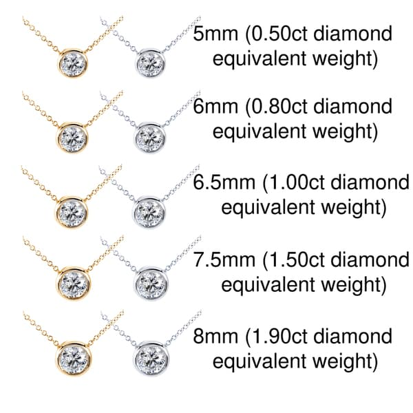 Annello by Kobelli 14k Gold Moissanite Solitaire Necklace