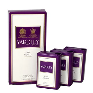 Yardley April Violets Women's Soap (Pack of 3)