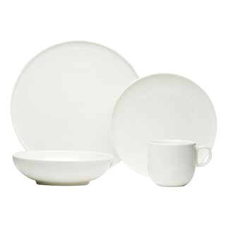 Red Vanilla Everytime White 16-piece Dinnerware Set