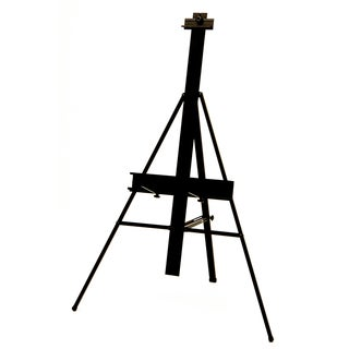 Offex Black Aluminum Lightweight Height Adjustable Premier Presentation Art Easel
