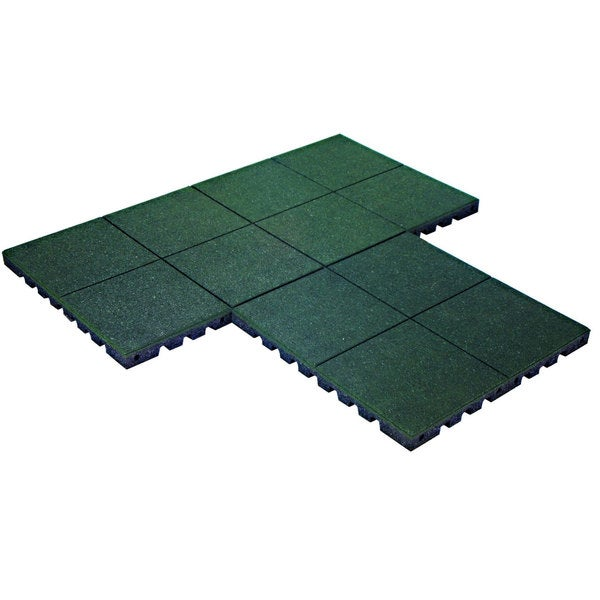 PlayFall Playground Green 2.5-inch Safety Surfacing (4 sq. ft)