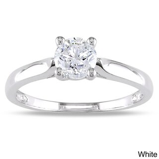 Miadora Signature Collection 14k Gold 3/4ct TDW Diamond Solitaire Engagement Ring