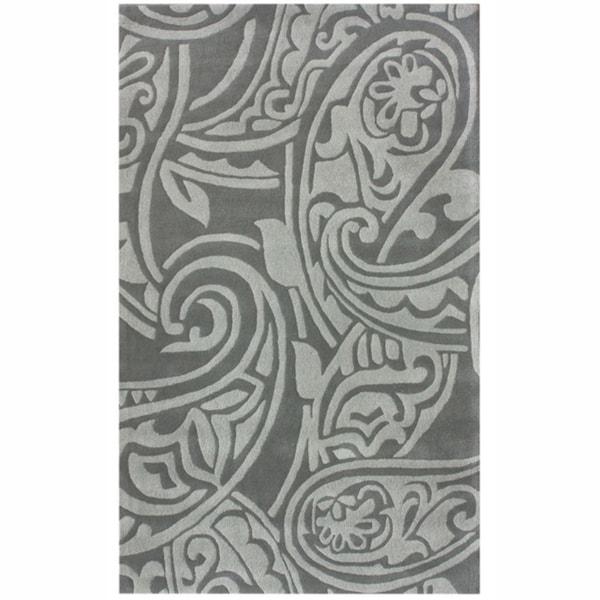 nuLOOM Handmade Paisley Grey New Zealand Wool Rug
