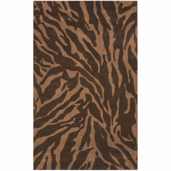 nuLOOM Handmade Zebra Brown New Zealand Wool Rug