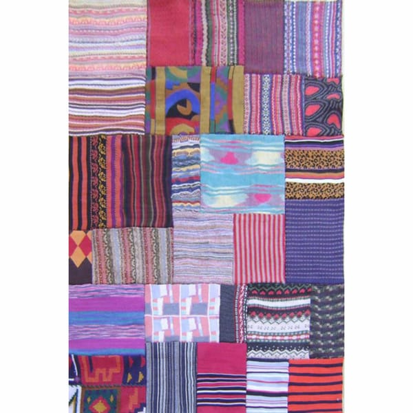 nuLOOM Rug Coolective Handmade Patchwork Multi New Zealand Wool Rug