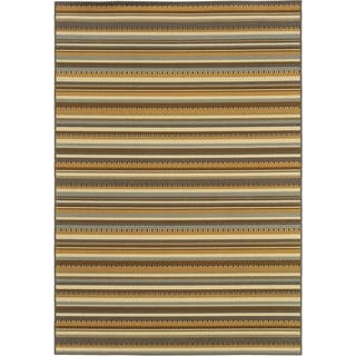 Outdoor/Indoor Grey/Gold Striped Area Rug|https://ak1.ostkcdn.com/images/products/7521414/P14959610.jpg?impolicy=medium
