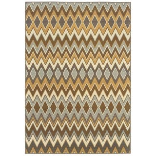 StyleHaven Chevron Grey/Gold Indoor-Outdoor Area Rug|https://ak1.ostkcdn.com/images/products/7521415/P14959611.jpg?impolicy=medium