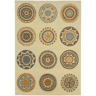 StyleHaven Medallions Ivory/Grey Indoor-Outdoor Area Rug