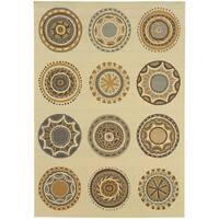 StyleHaven Medallions Ivory/Grey Indoor-Outdoor Area Rug