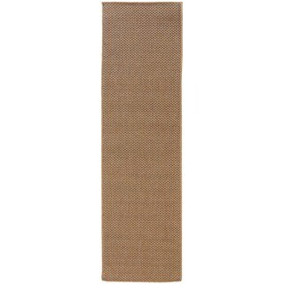 StyleHaven Woven Solid Sand Indoor-Outdoor Area Rug