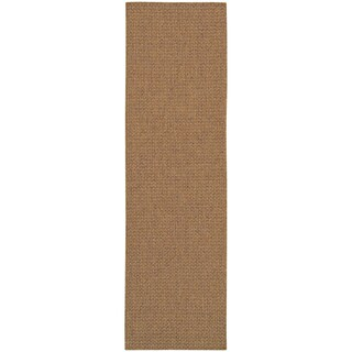 StyleHaven Woven Solid Tan Indoor-Outdoor Area Rug (More options available)